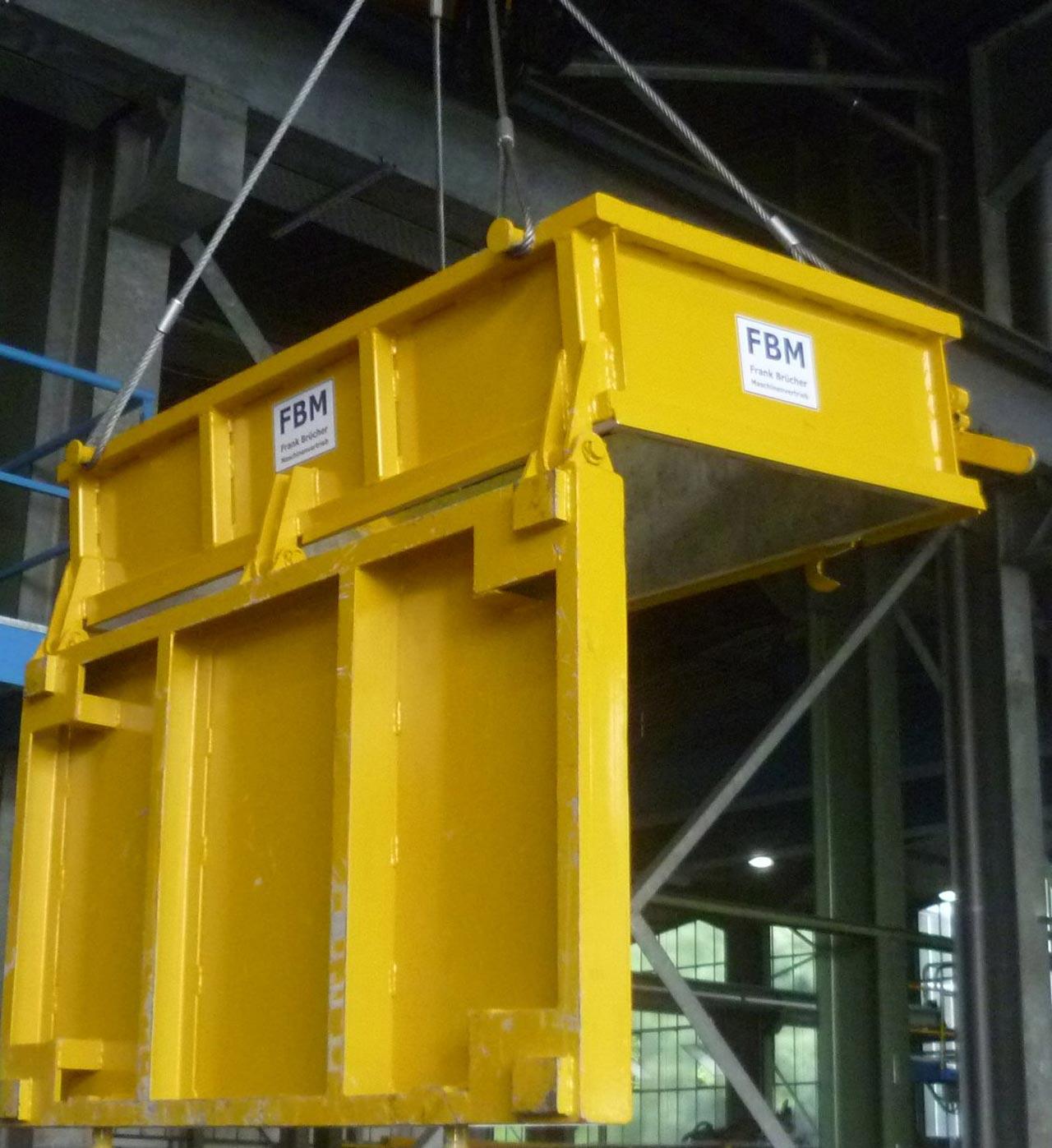 Schrottbox, Schrottbehälter, Schrottkübel, Schrottbox mit Bodenklappe, Schrottcontainer