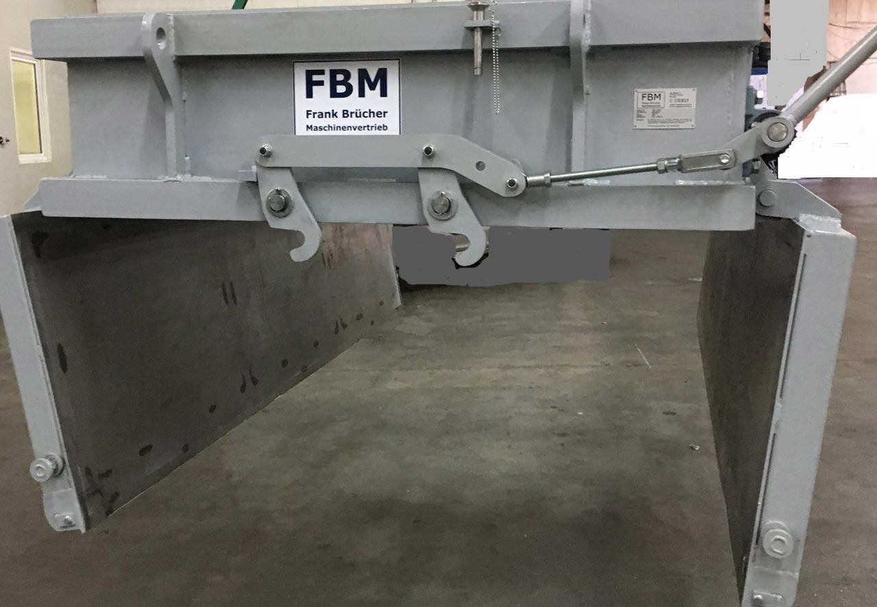 Schrottbox, Schrottbehälter, Schrottkübel, Fahrwagen, Schrottbox mit Doppelbodenklappen